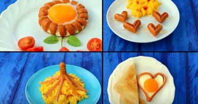 Веселий сніданок: робимо прикраси із сосисок!