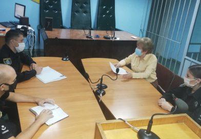 У Первомайську поліцейські зустрілись із головою суду з питань дотримання прав осіб, потерпілих від домашнього насильства